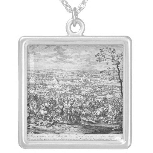 La batalla de Zenta, 1697 Colgante Cuadrado