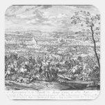 La batalla de Zenta, 1697 Pegatina Cuadrada