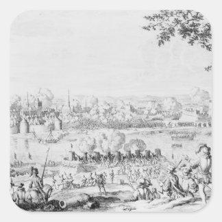 La batalla de Zutphen, el 22 de septiembre de 1586 Pegatina Cuadrada