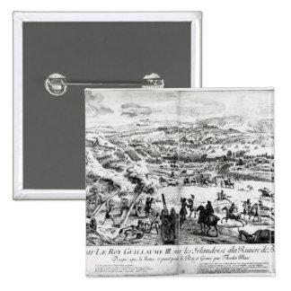 La batalla del Boyne, c.1690 Pin Cuadrado