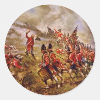 La batalla del Bunker Hill de E. Percy Moran Pegatina Redonda