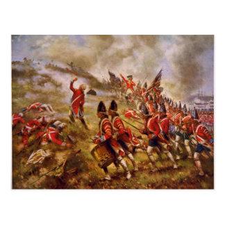 La batalla del Bunker Hill de E. Percy Moran Postal