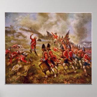La batalla del Bunker Hill de E. Percy Moran Póster