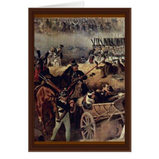 La batalla del detalle de Borodino de Hess Peter V Tarjeton
