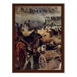La batalla del detalle de Borodino de Hess Peter V Tarjetas Postales