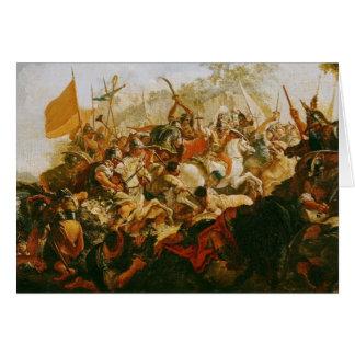 La batalla del Granicus en mayo 334 A.C. Tarjetón