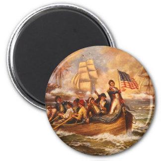 La batalla del lago Erie de Percy Moran Imán Redondo 5 Cm