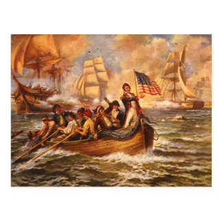 La batalla del lago Erie de Percy Moran Tarjeta Postal