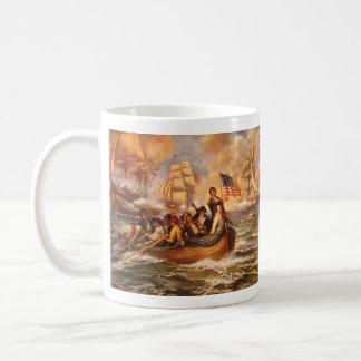 La batalla del lago Erie de Percy Moran Tazas De Café