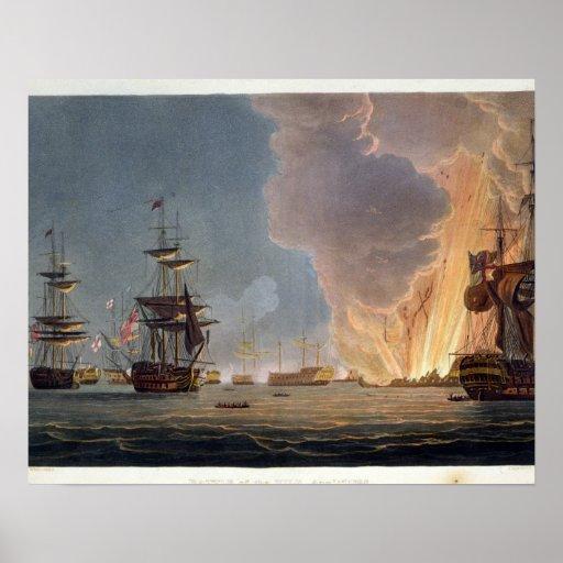 La batalla del Nilo, el 1 de agosto de 1798, graba Póster