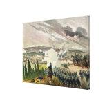 La batalla del sedán, el 1 de septiembre de 1870 impresión en lienzo