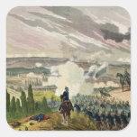 La batalla del sedán, el 1 de septiembre de 1870 pegatina cuadrada