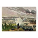 La batalla del sedán, el 1 de septiembre de 1870 tarjeta de felicitación