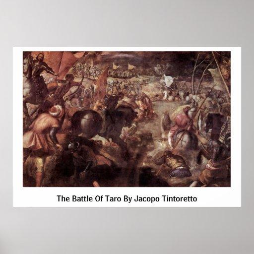 La batalla del taro de Jacopo Tintoretto Póster