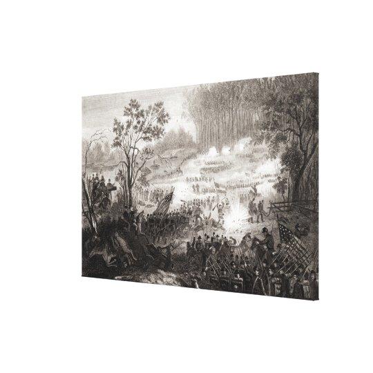 La batalla en el aterrizaje de Pittsburg Impresión En Lienzo