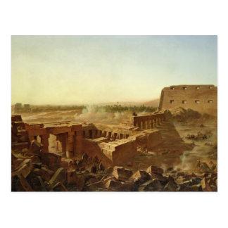 La batalla en el templo de Karnak Postal