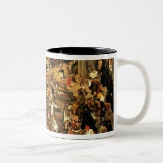 La batalla entre el carnaval y prestada tazas de café