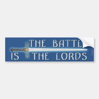 La batalla es el señor pegatina de parachoque