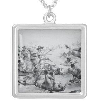 La batalla pasada de general Custer Collar Plateado