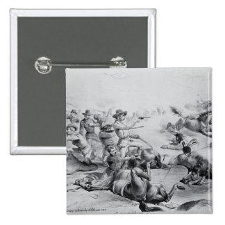 La batalla pasada de general Custer Pin Cuadrado