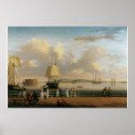 La batería y el puerto Nueva York 1811 Impresiones