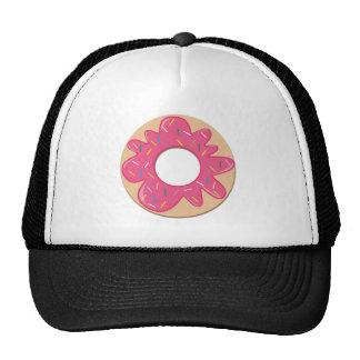 La baya rosada asperja el buñuelo gorras de camionero