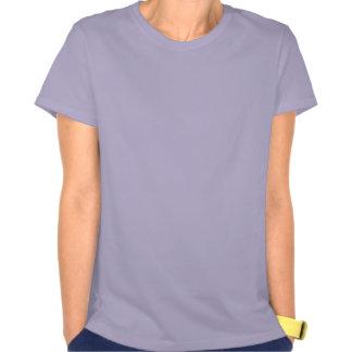 La baya y las flores azules en la púrpura del esco camisetas