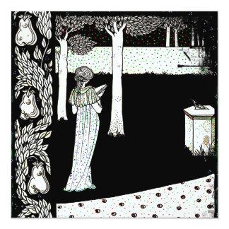 La Beale Isolde Reading in the Garden Card