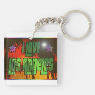 LA Beautiful Burn Key Chain