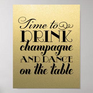 La bebida Champán y baila la muestra que se casa d Impresiones