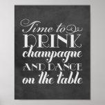 La bebida Champán y baila la muestra que se casa d Poster
