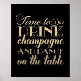 La bebida Champán y baila la muestra que se casa Póster
