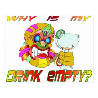 La bebida de Tiki está VACÍA Tarjetas Postales
