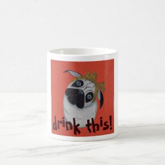 ¡la bebida del barro amasado esto! tazas de café