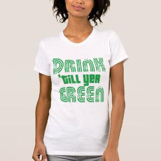 La bebida labra verde del YER Camisetas