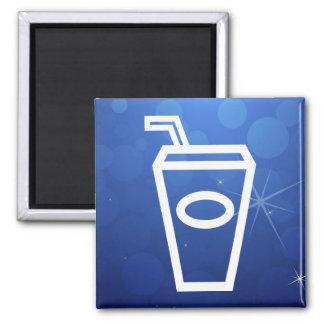 La bebida ordeña mínimo imán cuadrado