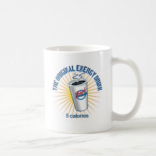 La bebida original de la energía tazas de café