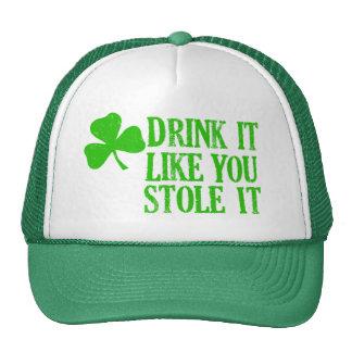 La bebida que tiene gusto de usted lo robó gorro
