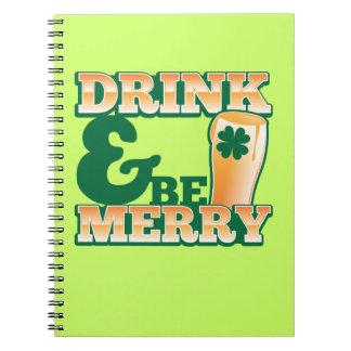 ¡La bebida y sea FELIZ! de la tienda de la cerveza Cuadernos