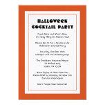 La bebida y sea fiesta asustadizo de Halloween Invitación 12,7 X 17,8 Cm