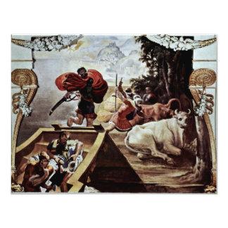 """La beca de Odiseo roba el ganado Invitación 4.25"""" X 5.5"""""""