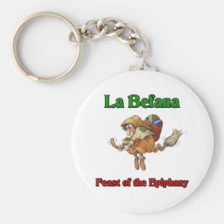 La Befana (Christmas Witch) Feast of the Epiphany. Basic Round Button Keychain