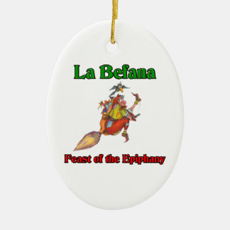La Befana (Christmas Witch) Feast of the Epiphany Ceramic Ornament