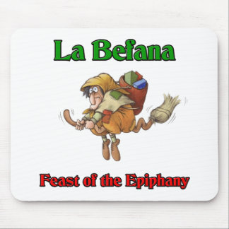 La Befana (Christmas Witch) Feast of the Epiphany. Mouse Pad