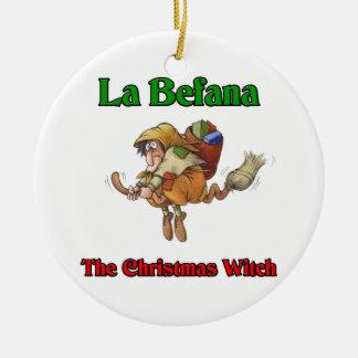 La Befana The Christmas Witch.. Ceramic Ornament
