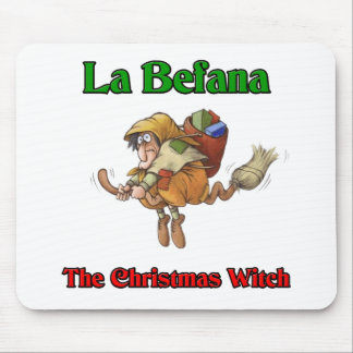 La Befana The Christmas Witch.. Mouse Pad
