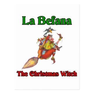 La Befana The Christmas Witch.. Postcard