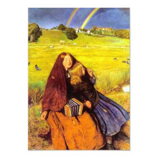 La bella arte ciega del chica invitación 12,7 x 17,8 cm