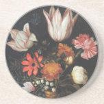 La bella arte de Ambrosius Bosschaert florece el p Posavasos Diseño