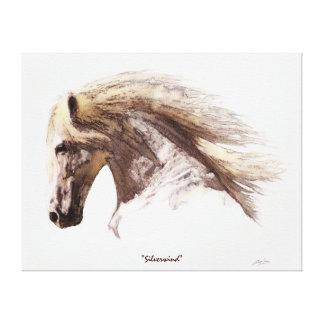 La bella arte de los Caballo-Amantes blancos Lona Envuelta Para Galerias